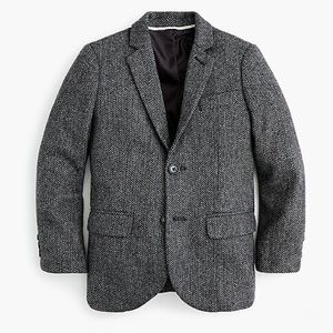 Boys' Ludlow Wool Herringbone Jacket